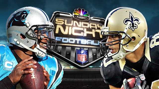 Panthers Saints Sunday Night Football