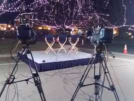 The stage is set for our live broadcast in Mocksville as WXII 12 News celebrates Davie County.