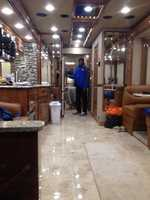 This is inside the trailer where our anchors and photographers can warm up and take a break during our Celebrate Davie County event.