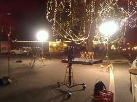 WXII 12's Talitha Vickers sent us this photo of the set before we start our live broadcast.