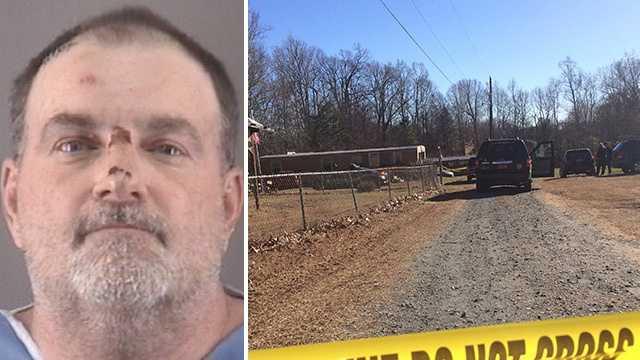 Left: Sanford Emanuel Snyder. Right: Death investigation scene.