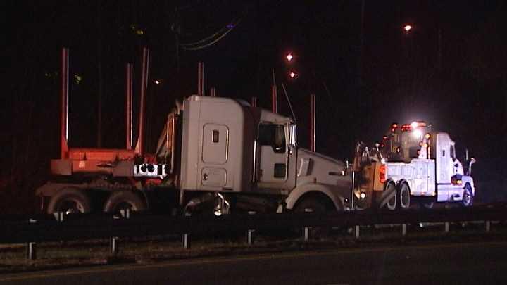 Big rig hits guardrail in Winston-Salem