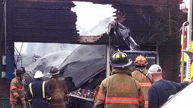 Carver's On Elm, open since 1993, was destroyed in a fire Wednesday morning.