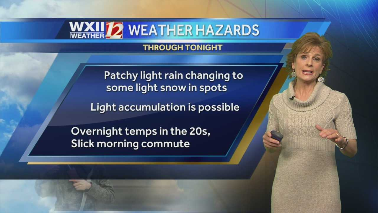 Some may see snow Wednesday night, and others may see black ice on their Thursday morning commute. Lanie Pope breaks it all down.