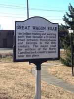 The Great Wagon Road runs through Stokes County. This was an important road for settlers as they made their way into North Carolina.