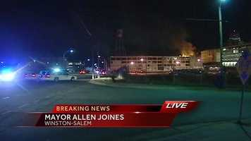 Winston-Salem Mayor Allen Joines says the fire did not do any major damage to the five buildings in the complex, which are part of a $52 million project.