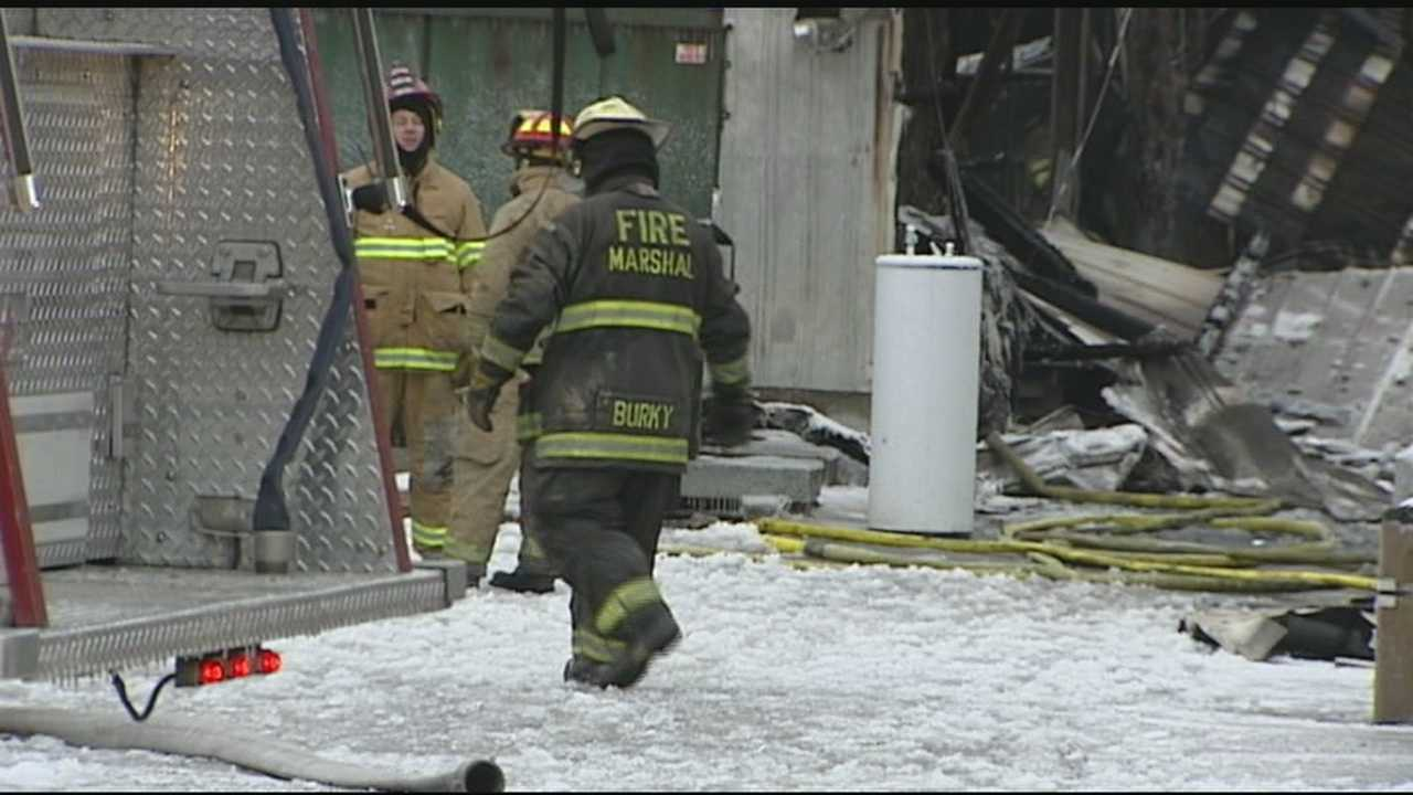 An early morning fire in Surry County brought out 30-40 firefighters to the ACME Stone Company, where three buildings in all were destroyed by the blaze.. Talitha Vickers has more.