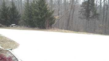 Here is a morning snow photo from Francisco in Stokes County.