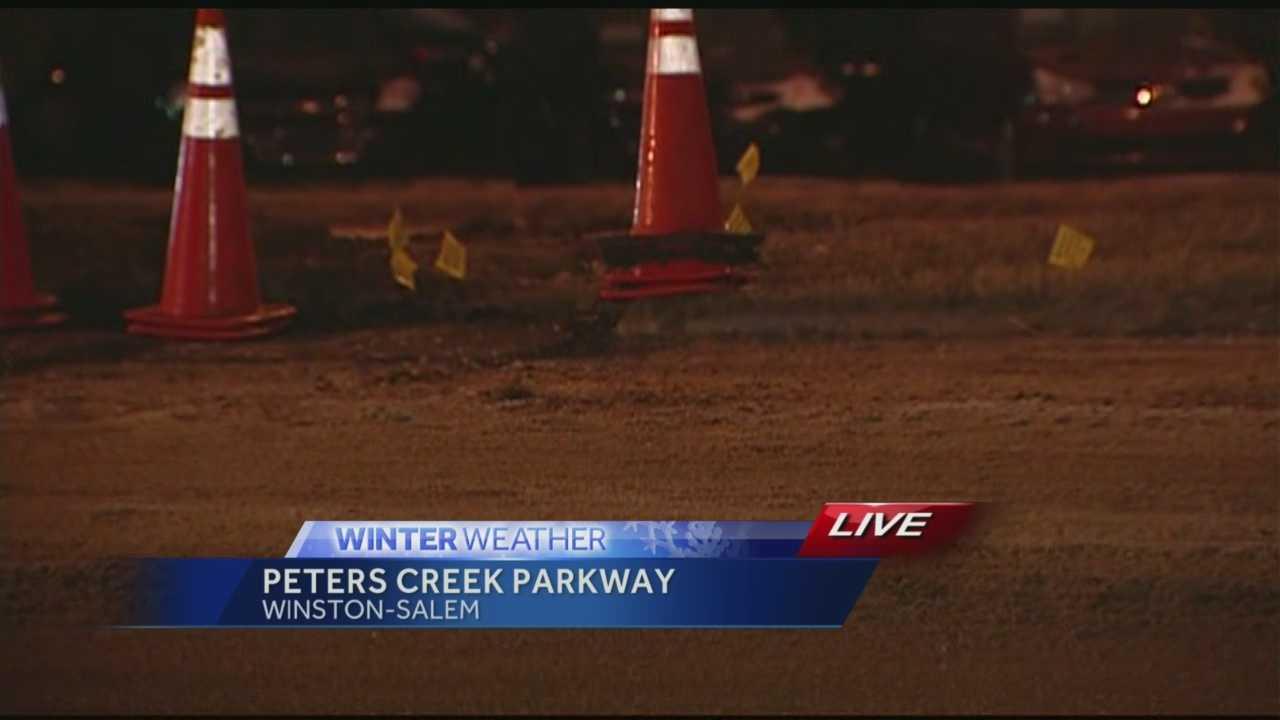 Water Main break at Peters Creek Parkway