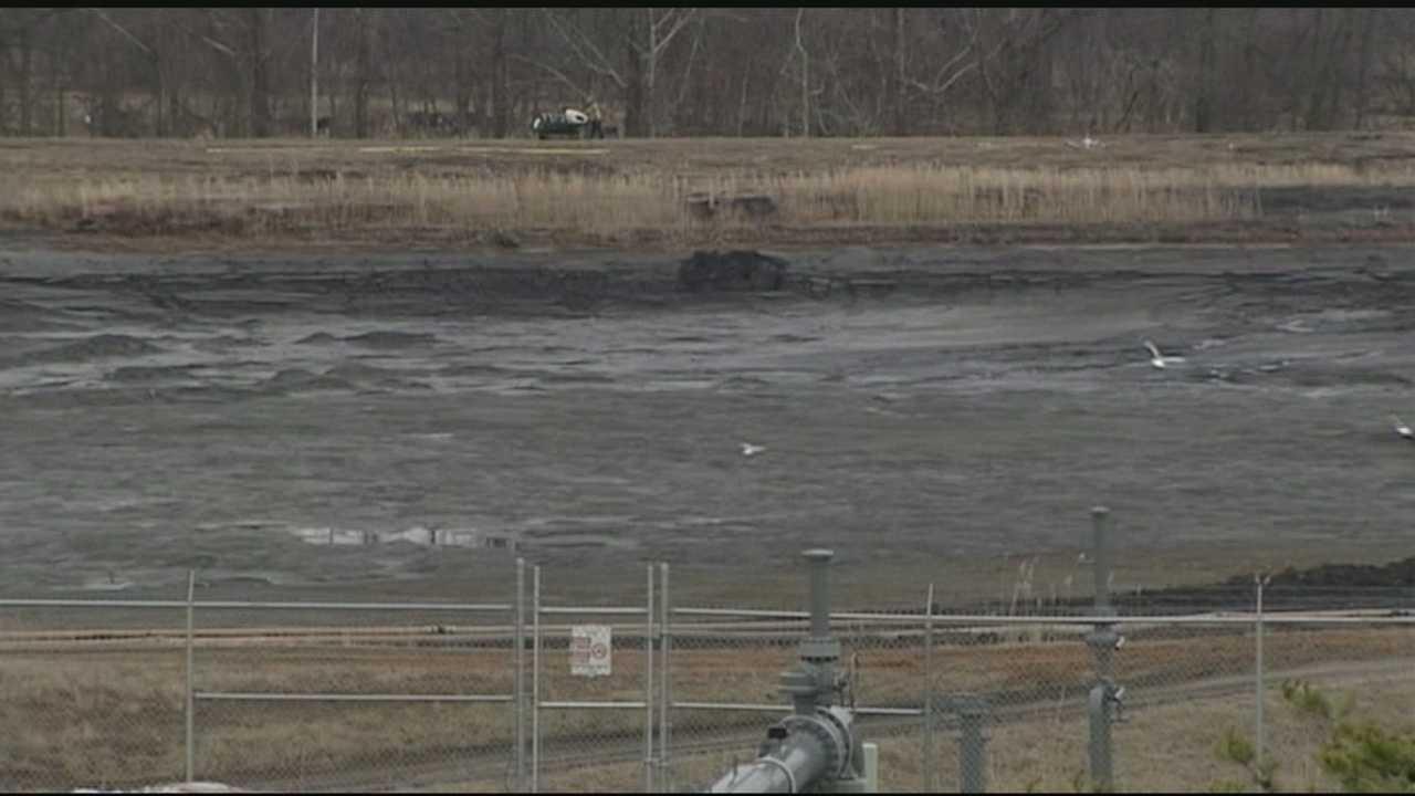 Rockingham County coal ash spill site