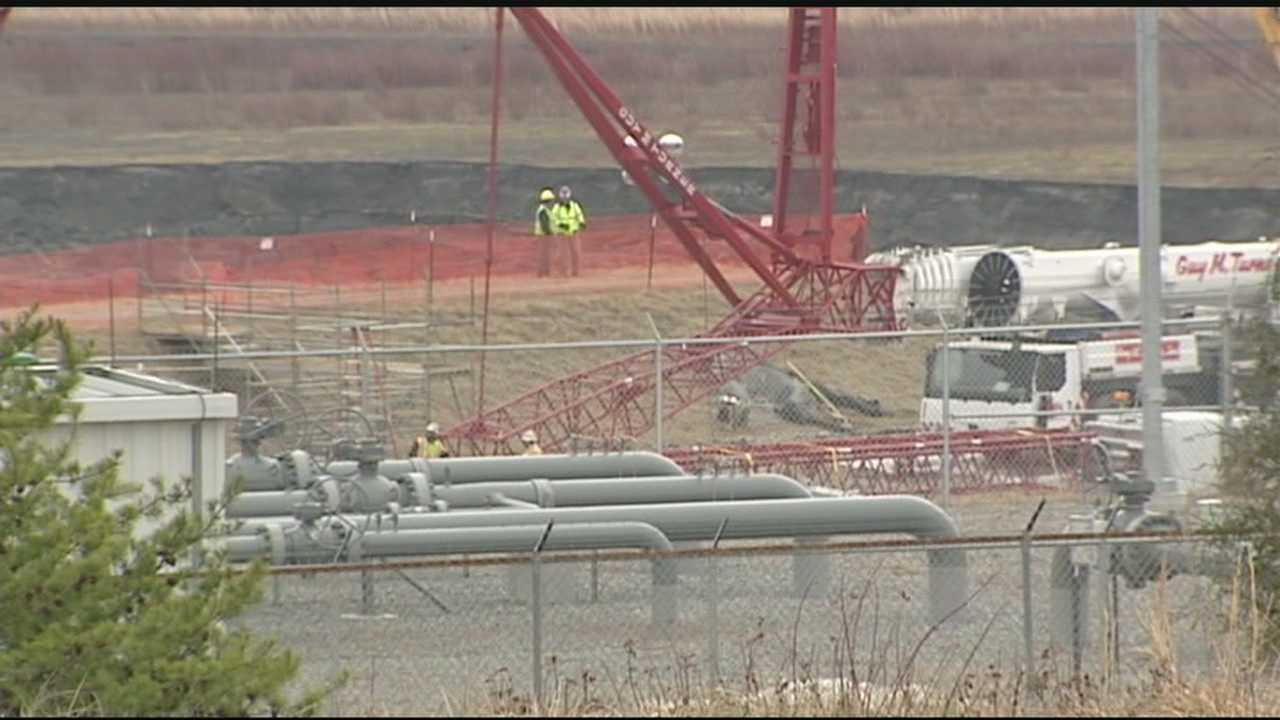 Coal Ash Spill: Concrete plug in place