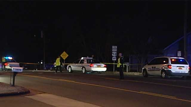 Pedestrian hit by 2 cars on University Parkway