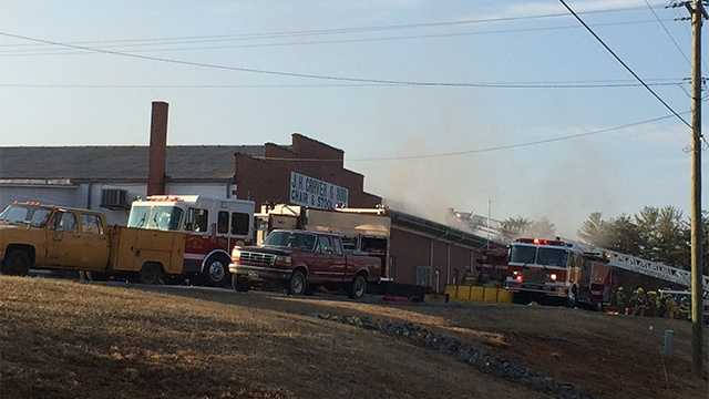 Fire at J.H. Craver and Son in Yadkin County