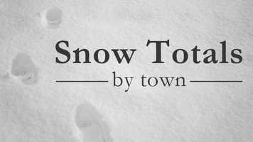 """WXII meteorologists have collected snow totals from our """"weather watchers."""" See what each town received from the recent storm in this slideshow."""