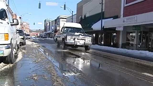 Snow thaws in Mount Airy