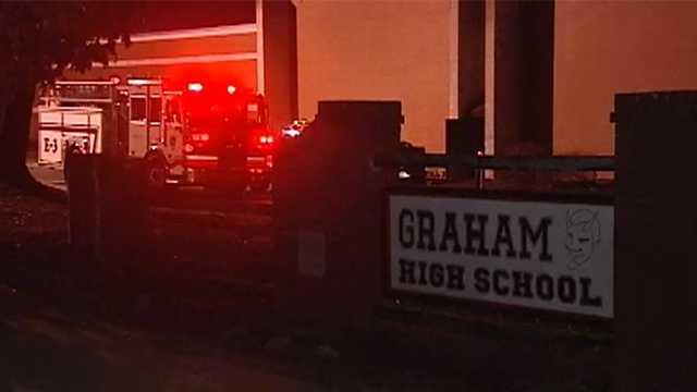 Fire at Graham High School
