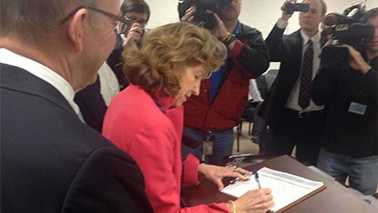 Kay Hagan files for 2nd Senate run