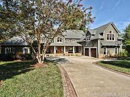 The five bedroom lakefront home is located in Cornelius and priced at $1,249,000.