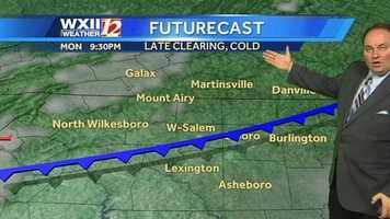Temperatures will continue to drop, with Tuesday morning's high in the upper teens.