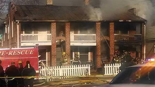 Winston-Salem apartment building fire