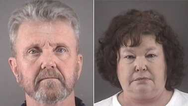Richard Freeman, left, and Candice Wilmoth, right
