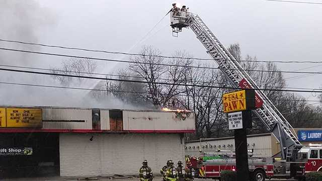 Fire at USA Pawn Shop in Greensboro