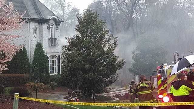 2-alarm house fire in Greensboro