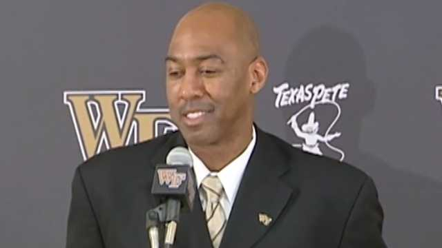 Danny Manning introduced at Wake Forest