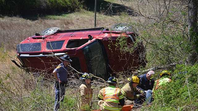 Carroll County crash while responding to tree accident