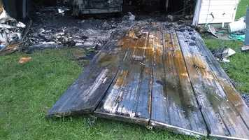A Tuesday morning lightning strike caused a fire in Surry County.