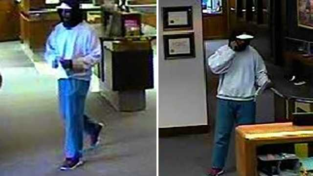 Surveillance image of First Bank robbery suspect