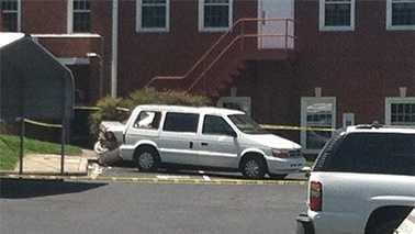Van hits 3 at NC polling place
