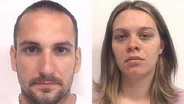 Christopher Matthews, left, and Alesha Johnson, right