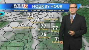 Let's start the Futurecast images at hourly intervals with Brian Slocum.