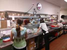 The crew is there working hard to make your dining experience memorable.