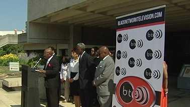 Black Network Televison lawsuit news conference