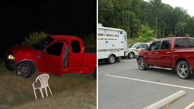 Left: First homicide investigation scene. Right: Second homicide investigation scene.