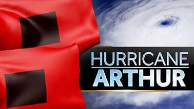 Hurricane Arthur graphic WXII