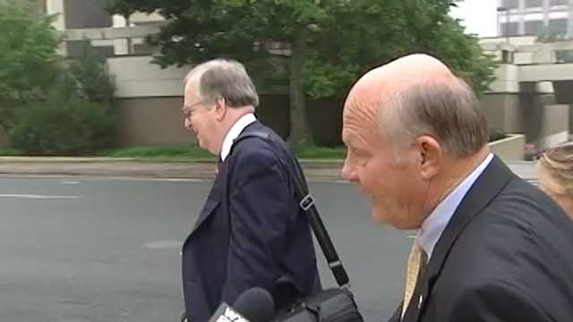 Alamance County Sheriff Terry Johnson heads to court