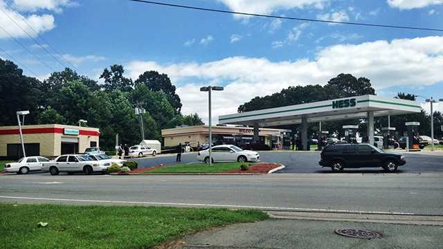 Stabbing reported at Winston-Salem gas station