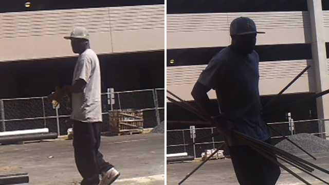 Surveillance image of downtown Winston-Salem metal theft suspect