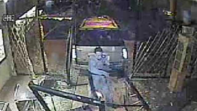 Surveillance image of jewelry store crash, theft in Eden
