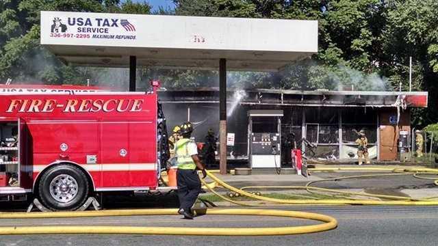 Fire at Winston-Salem gas station
