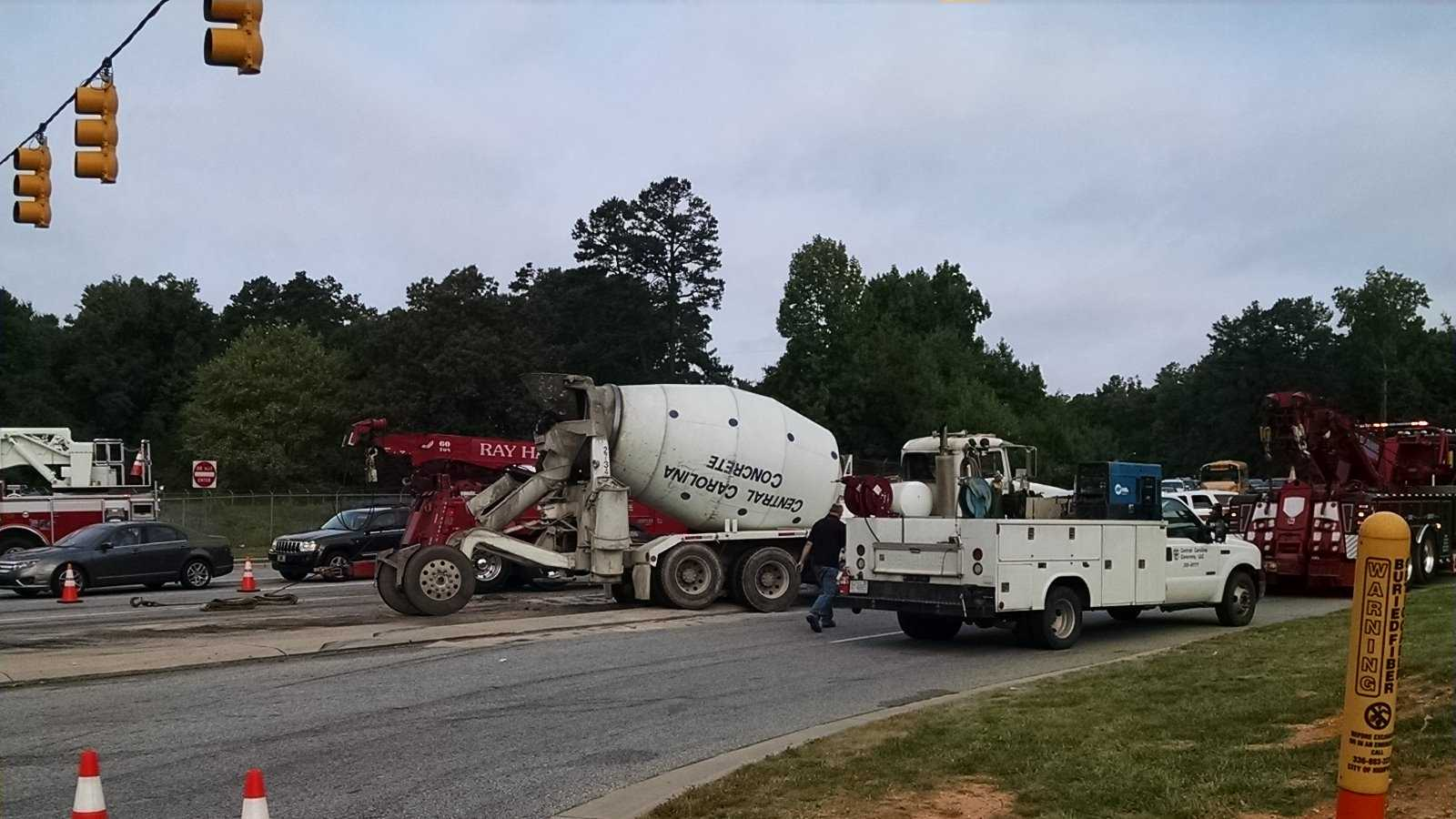 Concrete truck crash in High Point