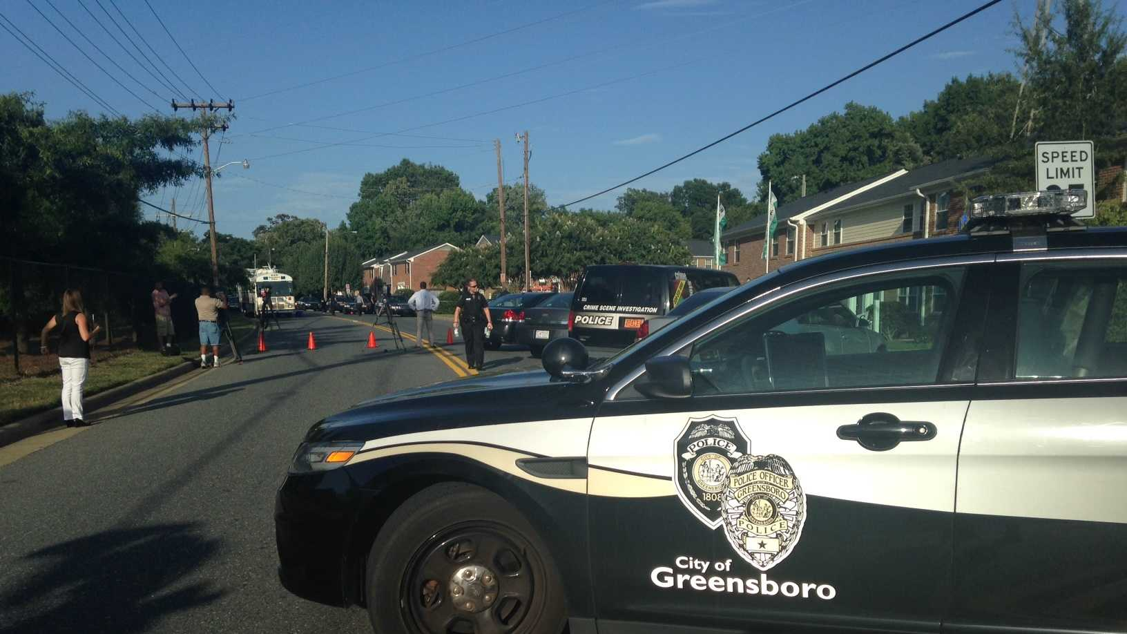 Police responded to Hewitt Street in Greensboro.