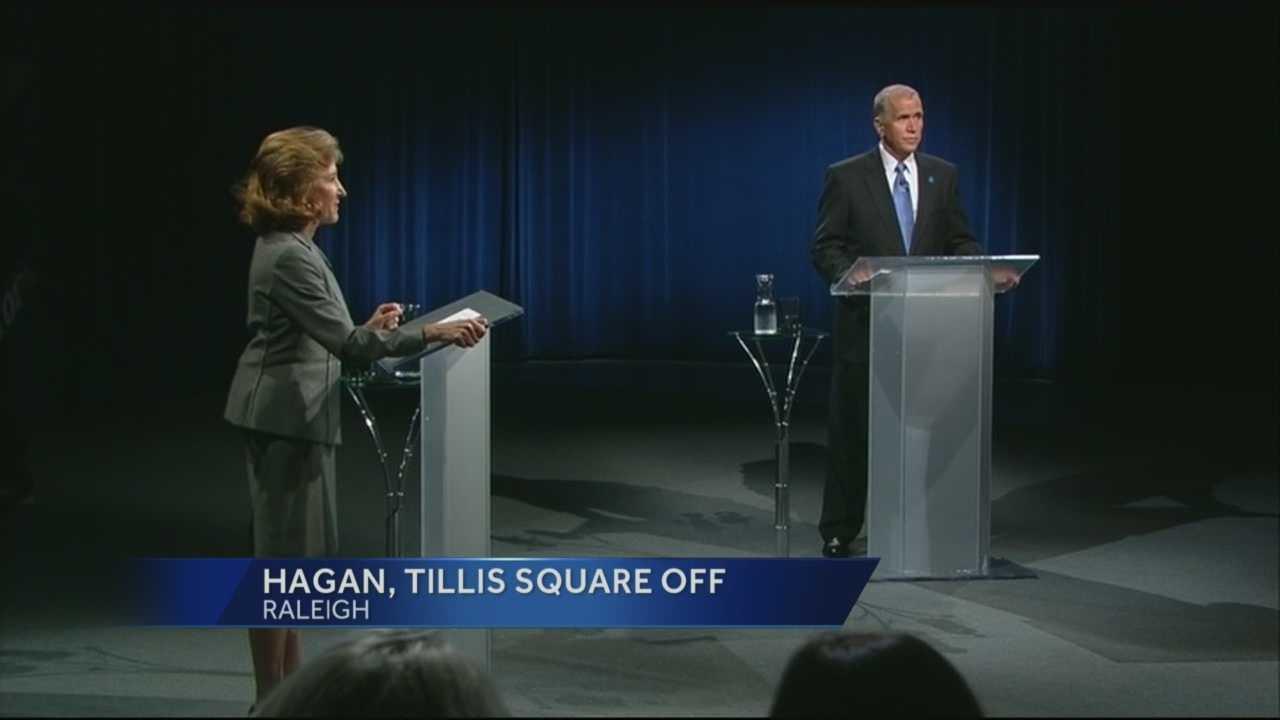 Hagan, Tillis square off in 1st. debate