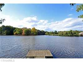 Lake-front property with boat dock