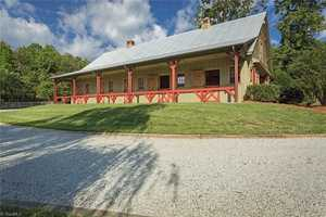 Barn with front porch