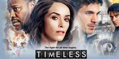 Timeless: PREMIERES OCT. 3 | MONDAYS 10:00 pm. A thrilling action-adventure series in which a mysterious criminal steals a secret state-of-the-art time machine, intent on destroying America as we know it by changing the past. Our only hope is an unexpected team: a scientist, a soldier and a history professor, who must use the machine's prototype to travel back in time to critical events. While they must make every effort not to affect the past themselves, they must also stay one step ahead of this dangerous fugitive. But can this handpicked team uncover the mystery behind it all and end his destruction before it's too late?