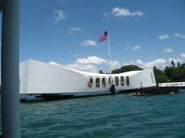 The U.S.S. Arizona Memorial Museum (Oahu, Hawaii) is the final resting place for many of the ship's 1177 crewmen who lost their lives on December 7, 1941.